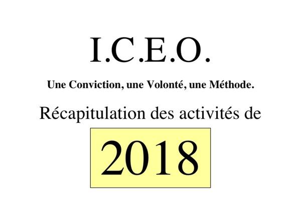 N° 117 ___Récapitulation des activités 2018