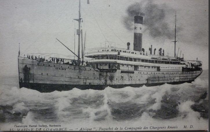"""N° 154  Paquebot """"Afrique"""", le centenaire d'un naufrage oublié"""
