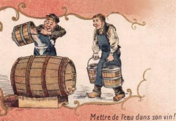 N° 169 Mettre de l'eau dans son vin, un crime ou le début de la sagesse ?