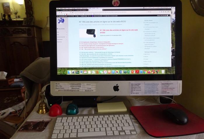 N° 196 Liste des articles en ligne sur le site web d'ICEO