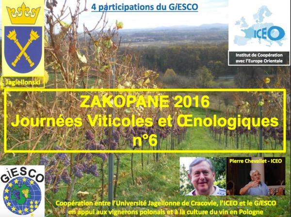 N°231  ICEO et la coopération décentralisée : l'exemple des Journées Viticoles et Œnologiques de Zakopane.