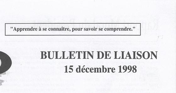 N° 284 Bulletin de liaison d'ICEO daté du 15 décembre 1998